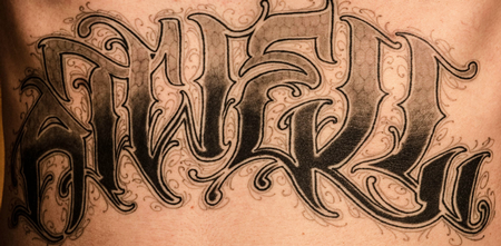 Pin Custom Fonts Poems And Phrases Used As Tattoos Also Gang Use on ...