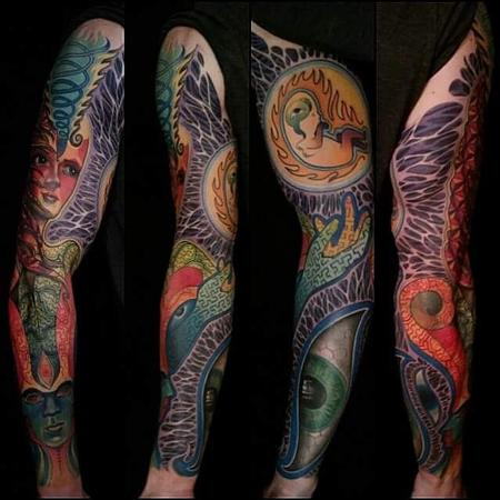 Tattoos - psychedelic sleeve - 114613