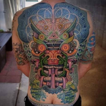 Tattoos - mask backpiece - 115118