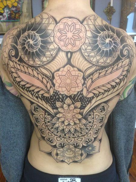 Tattoos - geometrical backpiece in progress - 86623