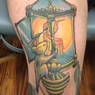 Tattoos - mouse climbing a lantern - 86592