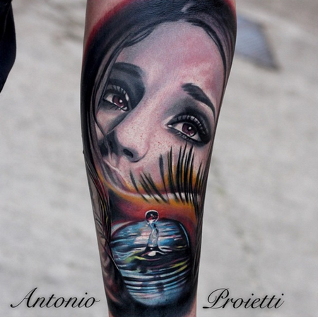 Tattoos - Woman's Face - 112324