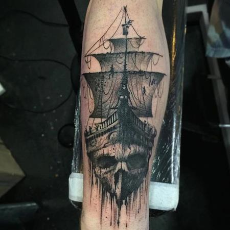 Tattoos - Pirate Ship - 126287