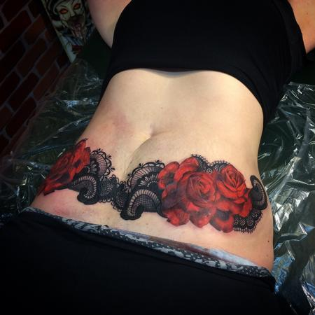 Tattoos - Roses and Lace - 115376