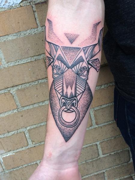Tattoos - Geometric Bull - 101159