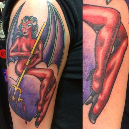 Tattoos - Devilish Pin Up - 115366