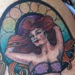 Framed Mermaid Tattoo Design Thumbnail
