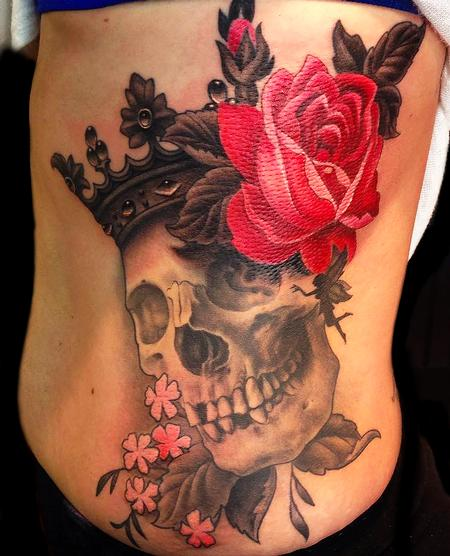 Audi - Skull with rose