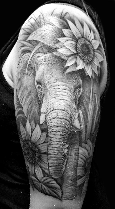Audi - elephant with sunflowers