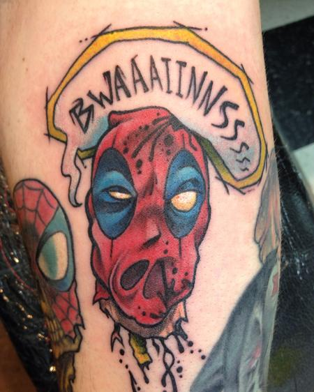 Tattoos - Zombie Deadpool Head - 115900