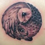Yin Yang Owls Tattoo Design Thumbnail