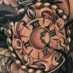 Flowers and Time Tattoo Design Thumbnail