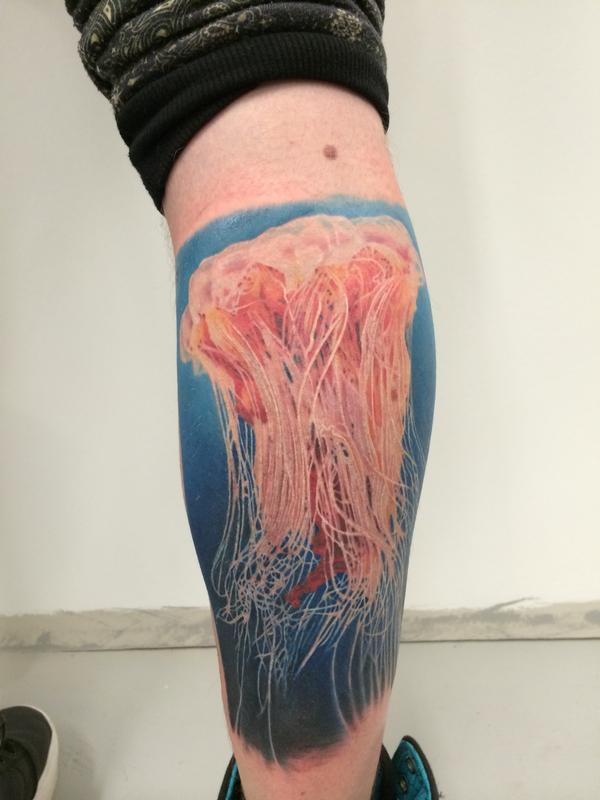 Photo Realistic Jellyfish by Cassady Bell : TattooNOW