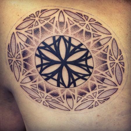 Dotwork Blackwork Mandala Tattoo Design Thumbnail
