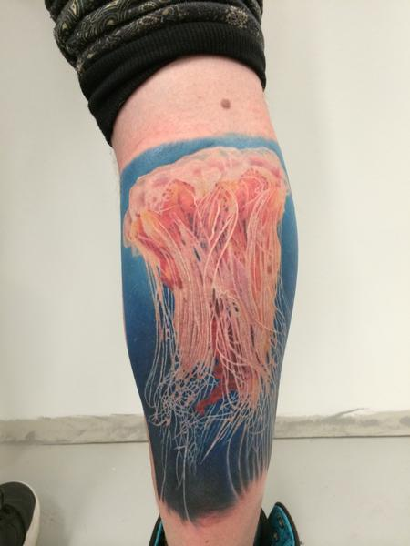 Photo Realistic Jellyfish Tattoo Design