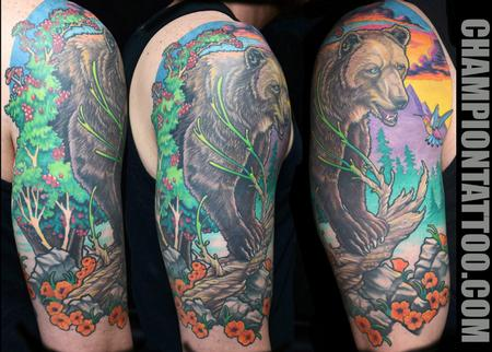 Tattoos - Bear Sunset - 107843