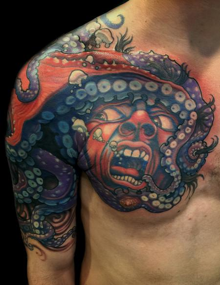 Tattoos - Crimson Octopus - 125167