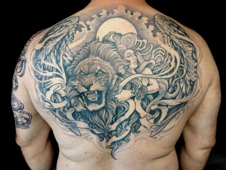 Tattoos - Lion and Angel - 102233