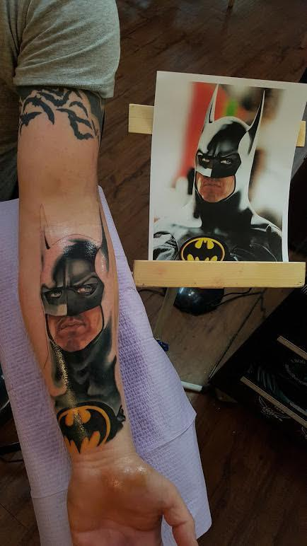 Tattoos - Batman color portrait - 121697