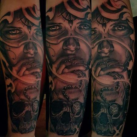 Tattoos - Black and Gray Portrait Tattoo - 121698