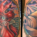 Tattoos - Rooster and Pig Foot Tattoo - 66958