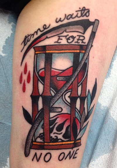 Time Waits For No One Tattoo Design Thumbnail