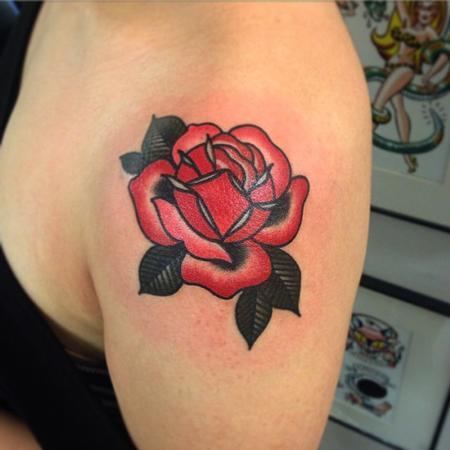Tattoos - rose tattoo - 101417
