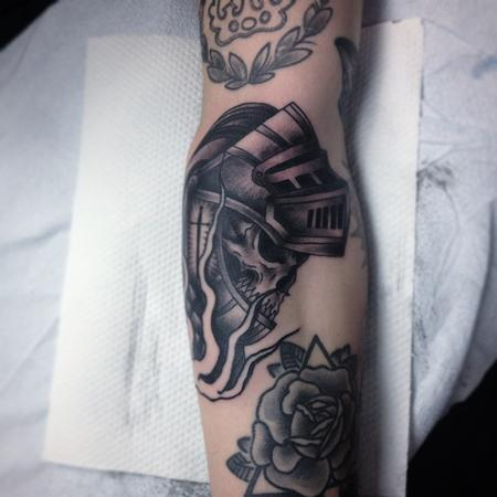 Tattoos - knight skull - 101418