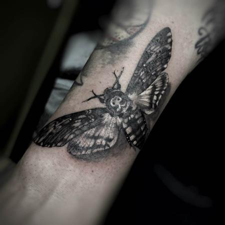 Tattoos - Black and Gray Insect Tattoo - 115610