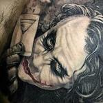 Low Color Joker Portrait Tattoo Tattoo Design Thumbnail