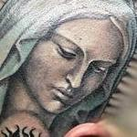 Virgin Mary Head Tattoo Tattoo Design Thumbnail