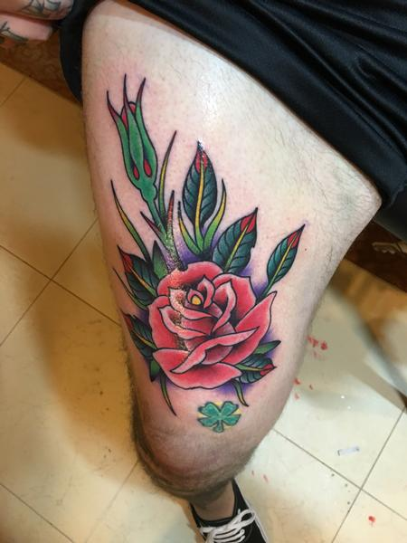 Tattoos - Bright Red Rose - 120544