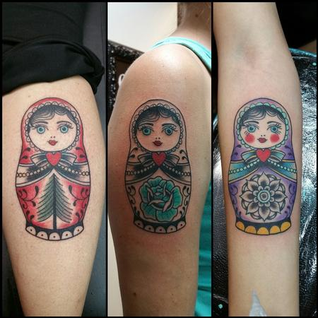 Tattoos - Matryoshka, Russian Dolls - 120475