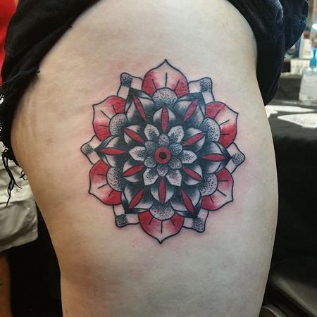 Tattoos - Black & Red Mandala - 120587