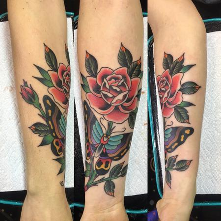 Tattoos - Butterfly Rose - 120600