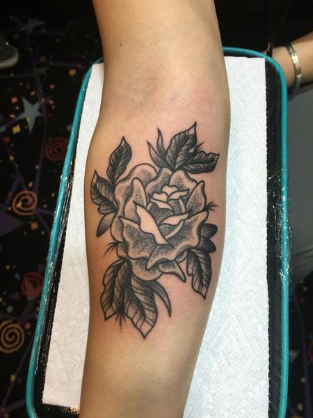 Tattoos - B/G Rose - 120614