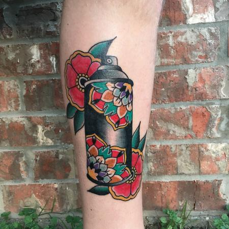Tattoos - Flowered Spray Can - 120553