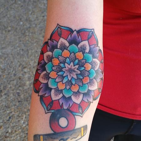 Tattoos - Mandala Flower - 120452