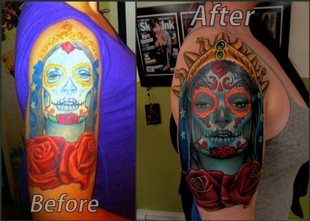 Tattoos - day of the dead girl/ redo - 97686