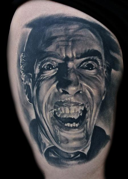 Dracula Portrait Tattoo Tattoo Design