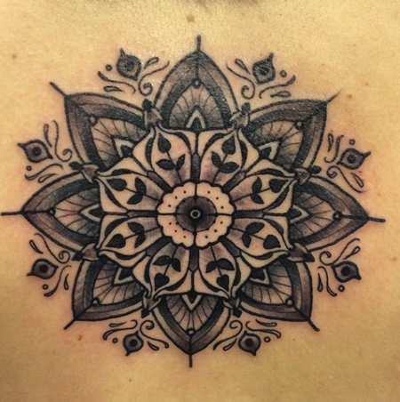 Blackwork Geometric Design Tattoo Design