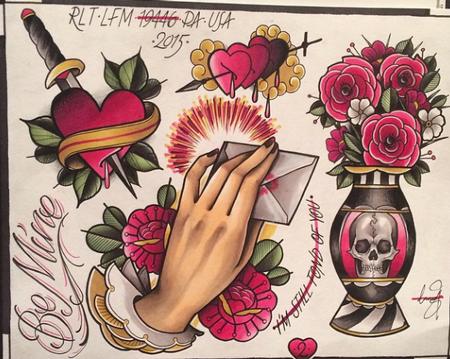 Tattoonow 2014 original art page 2 for Valentine s day tattoos