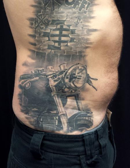 Tattoos - Motorcycle - 115869