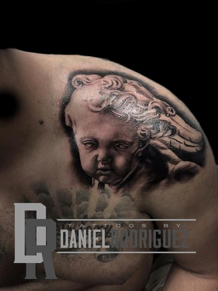 bernini cherub Tattoo Design by Daniel Rodriguez