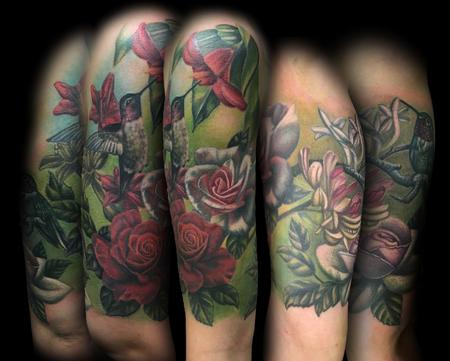 Tattoos - Hummingbirds and Floral - 119115