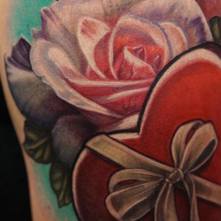 Tattoos - Rose in Heart box (Detail) - 114033