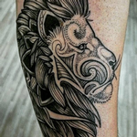 Dotwork Lion Tattoo Design Thumbnail