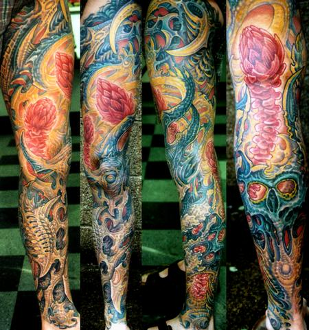 Tattoos - Biomech Leg Sleeve - 112526