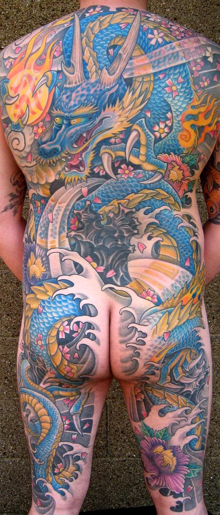 Tattoos - Traditional Japanese Back Piece - 112528