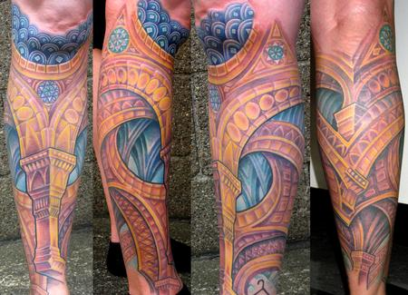 Tattoos - Architecture Lower Leg - 113560